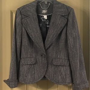 White House Black Market Gray Blazer, sz 8
